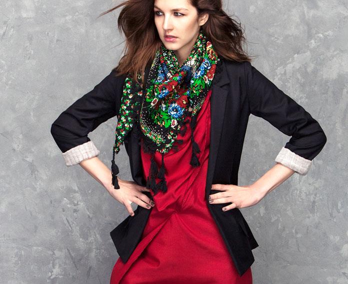 Veste et robe rouge