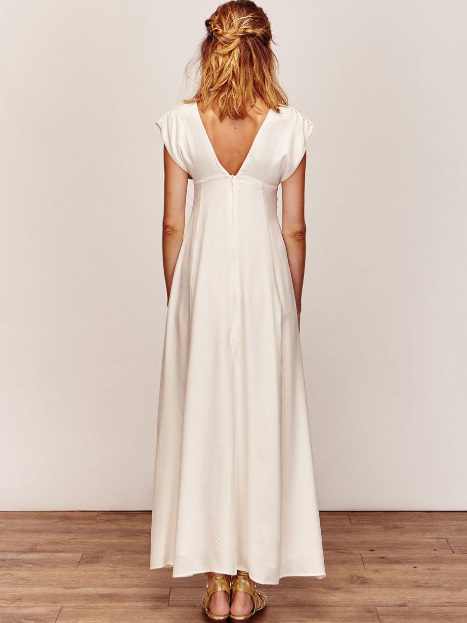 Gabrielle robe de mariee courte createur et sur mesure for Robe de mariée créateur pas cher