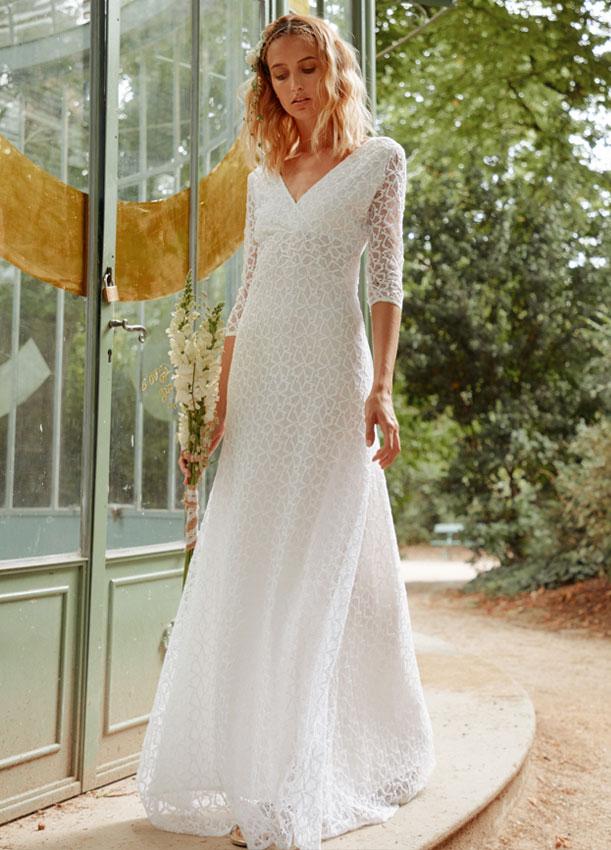 Robe de mariee moderne et romantique