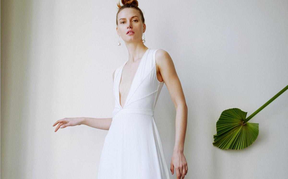 6264a85c354ab Marilyn - Robe de mariée longue décolleté marilyn monroe style année ...
