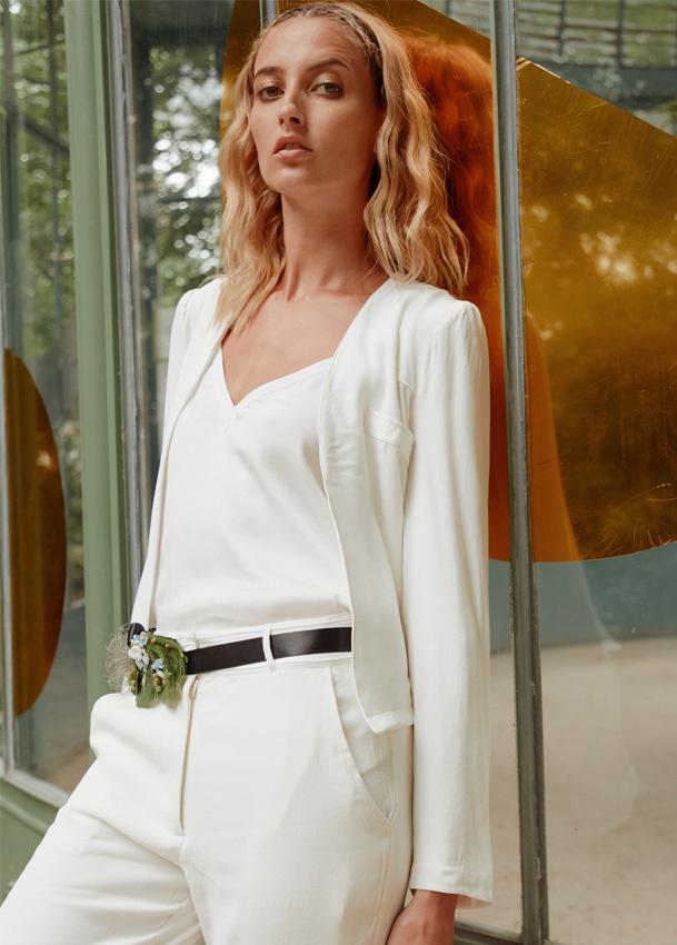 newest separation shoes outlet boutique GREY - Veste de tailleur de mariée femme blanc - Robe de ...