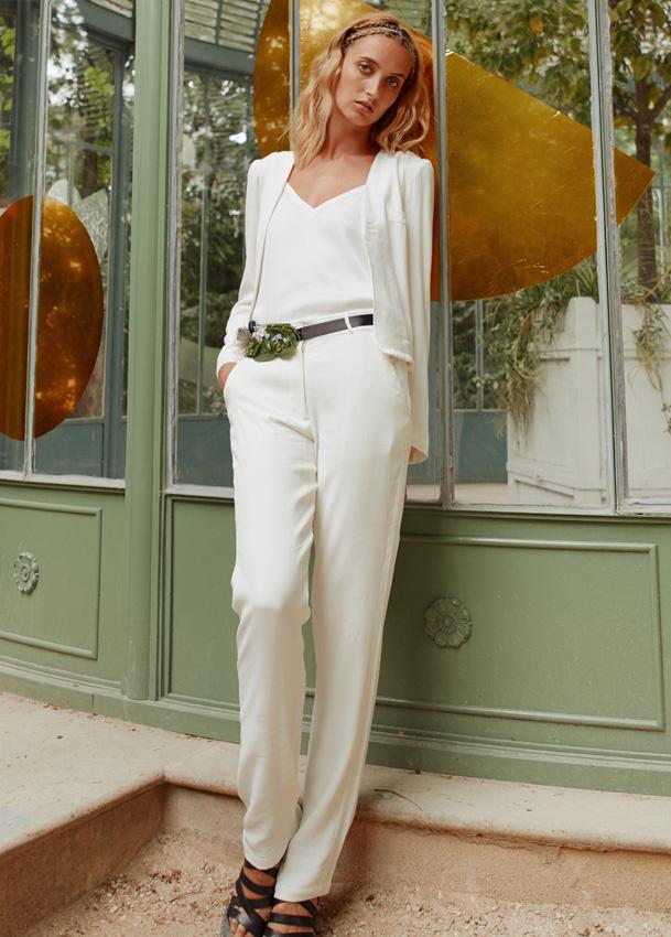 1e25a0d7747da6 GREY - Veste de tailleur de mariée femme blanc - Robe de mariée ...