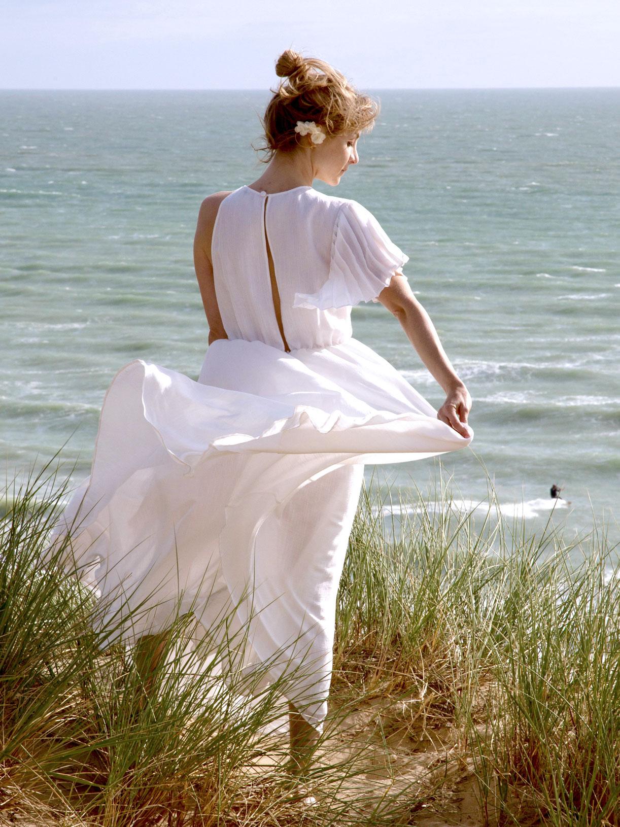 Robe pour mariage civil longue asymetrique bio et ecoresponsable - Myphilosophy
