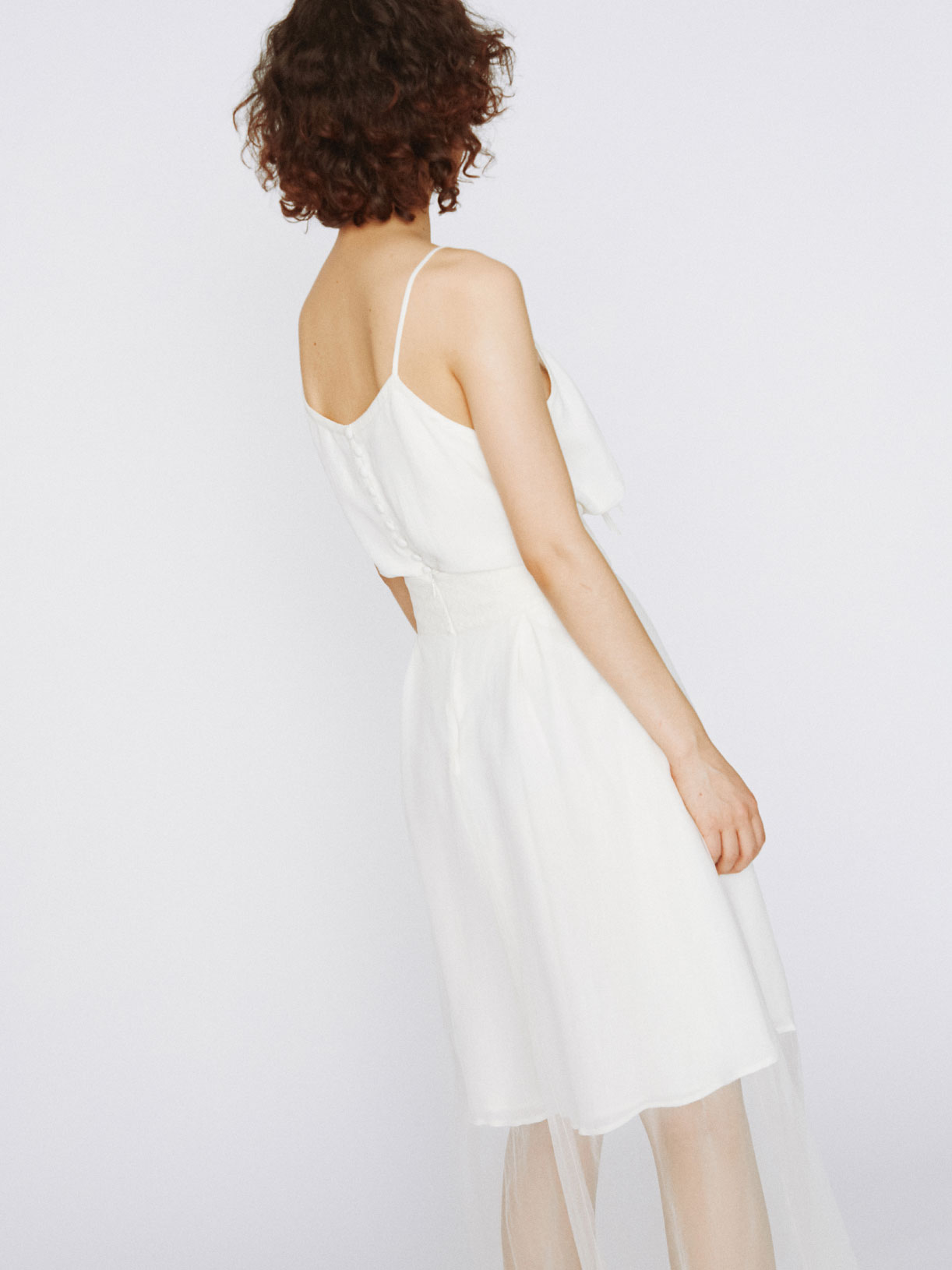 Robe de mariée transparente en tulle écoresponsable - Creatrice de robe de mariée éthique et bio a Paris - Myphilosophy