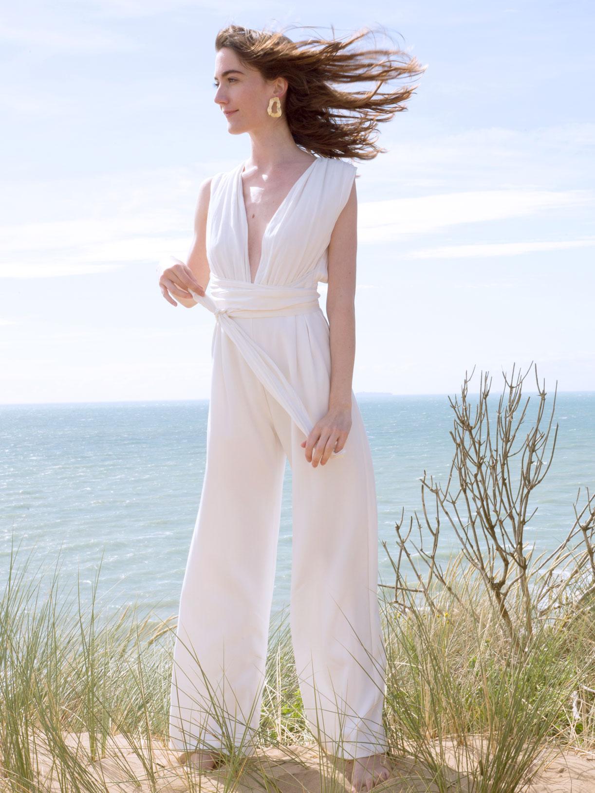 Combinaison pantalon de mariée civile - Créatrice de robes de mariée à Paris - Myphilosophy