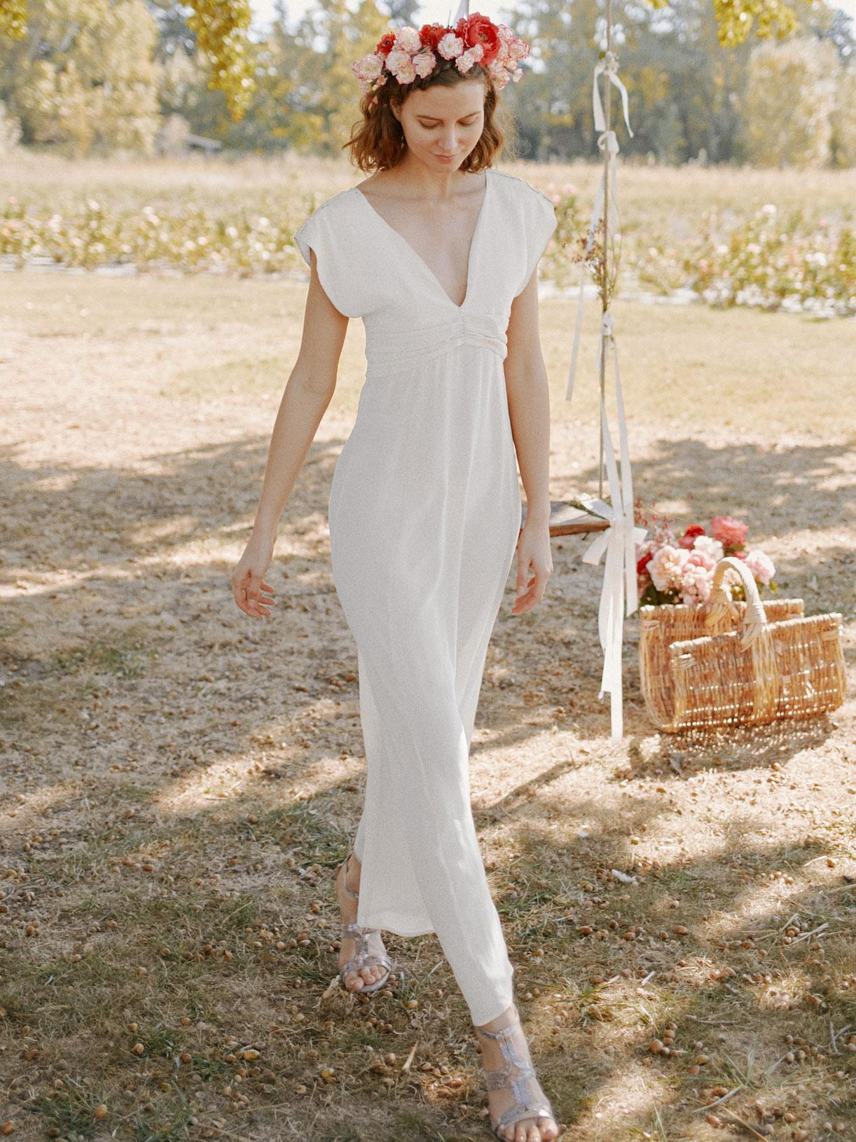 Robe de mariée civil longue vegan écoresponsable - Creatrice de robe de mariée éthique et bio a Paris - Myphilosophy