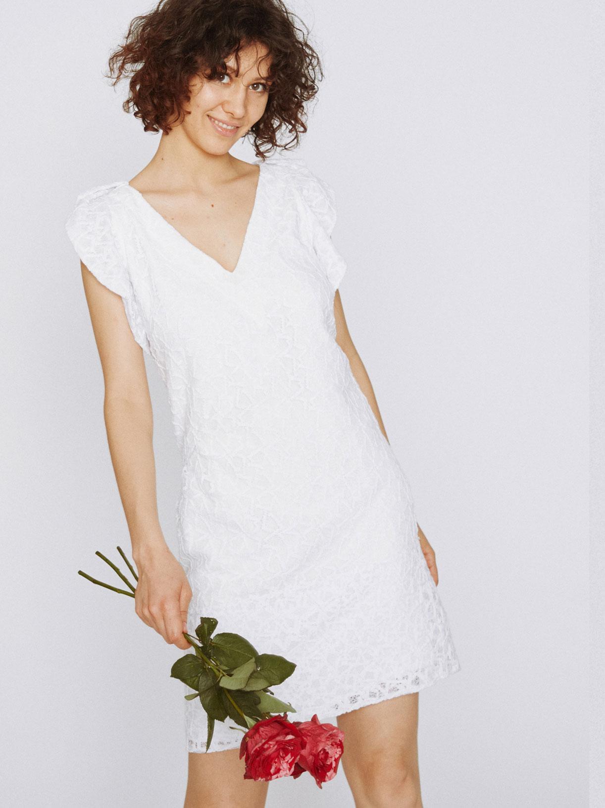 Robe de mariee civil en dentelle écoresponsable - Creatrice de robe de mariée éthique et bio a Paris - Myphilosophy