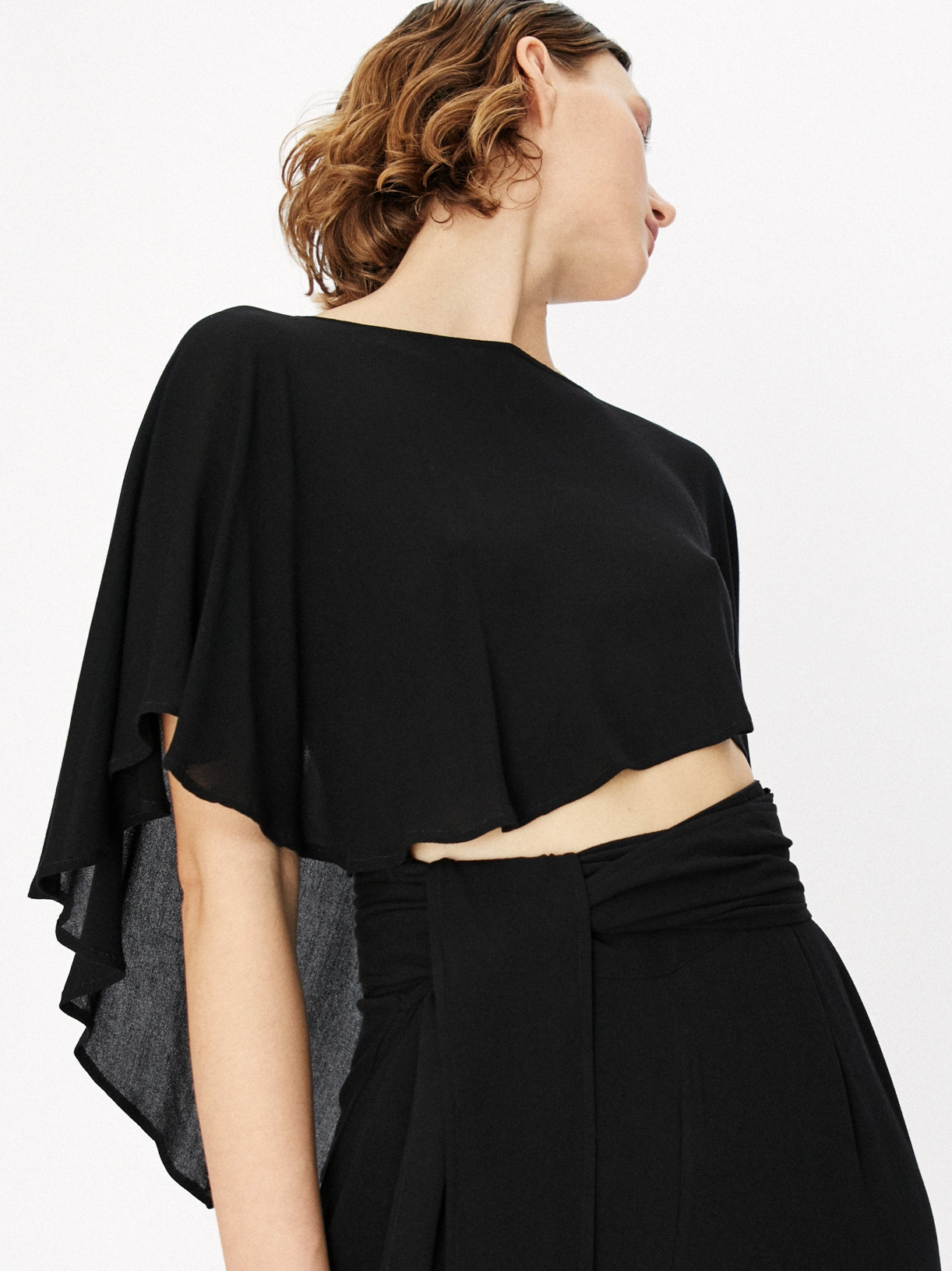 Capucine - Crop top cape