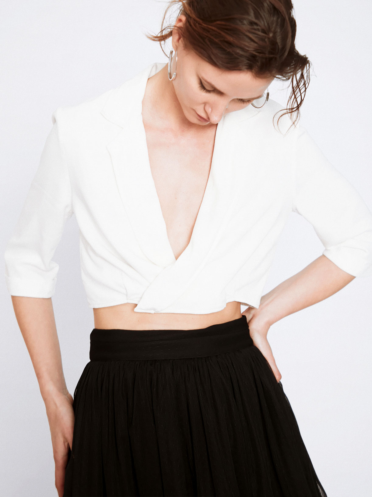 Crop top smocking blanc createur écoresponsable - Creatrice de mode éthique et bio a Paris - Myphilosophy