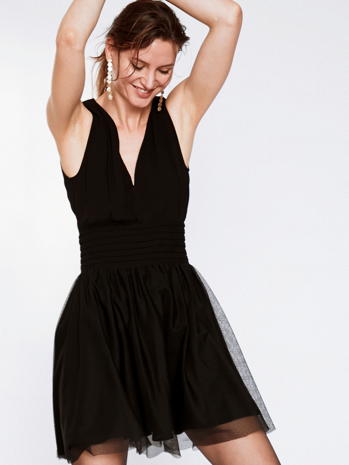 Marie - Robe noire courte