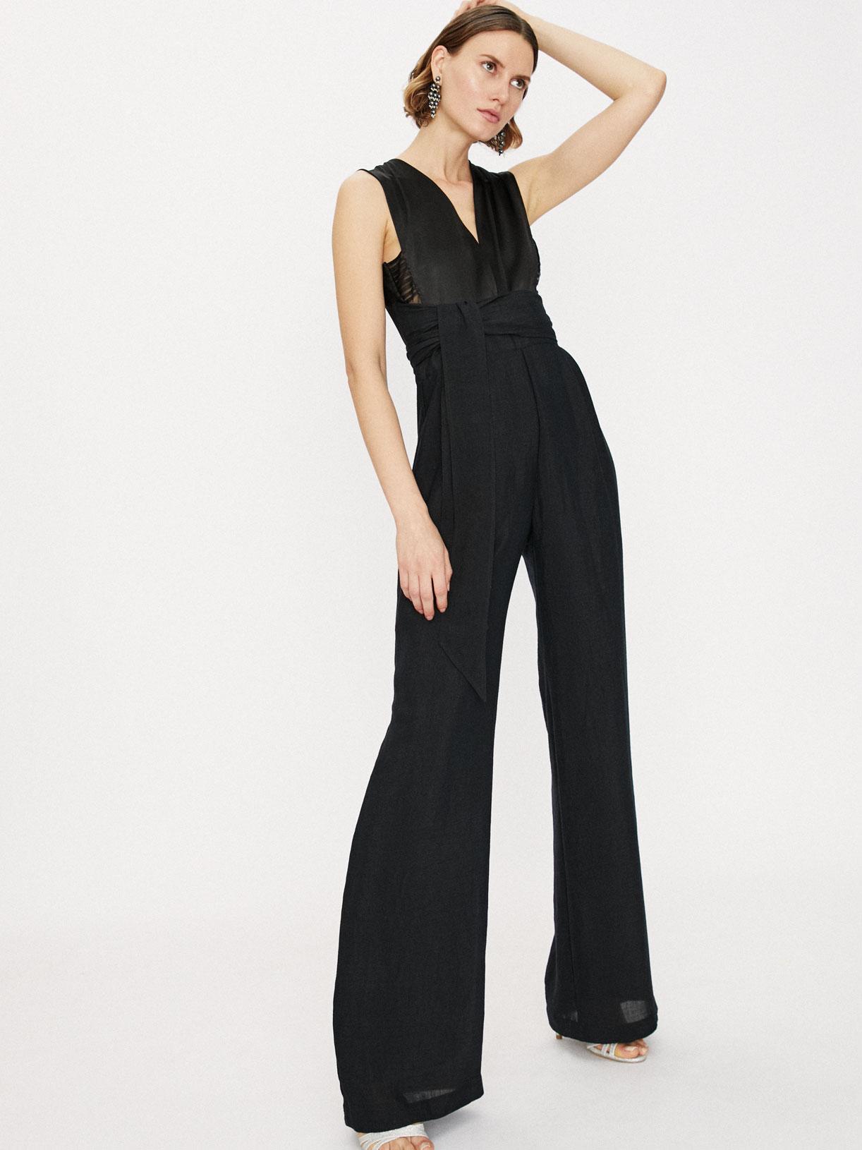 Combinaison pantalon large de soirée écoresponsable - Creatrice de mode éthique et bio a Paris - Myphilosophy