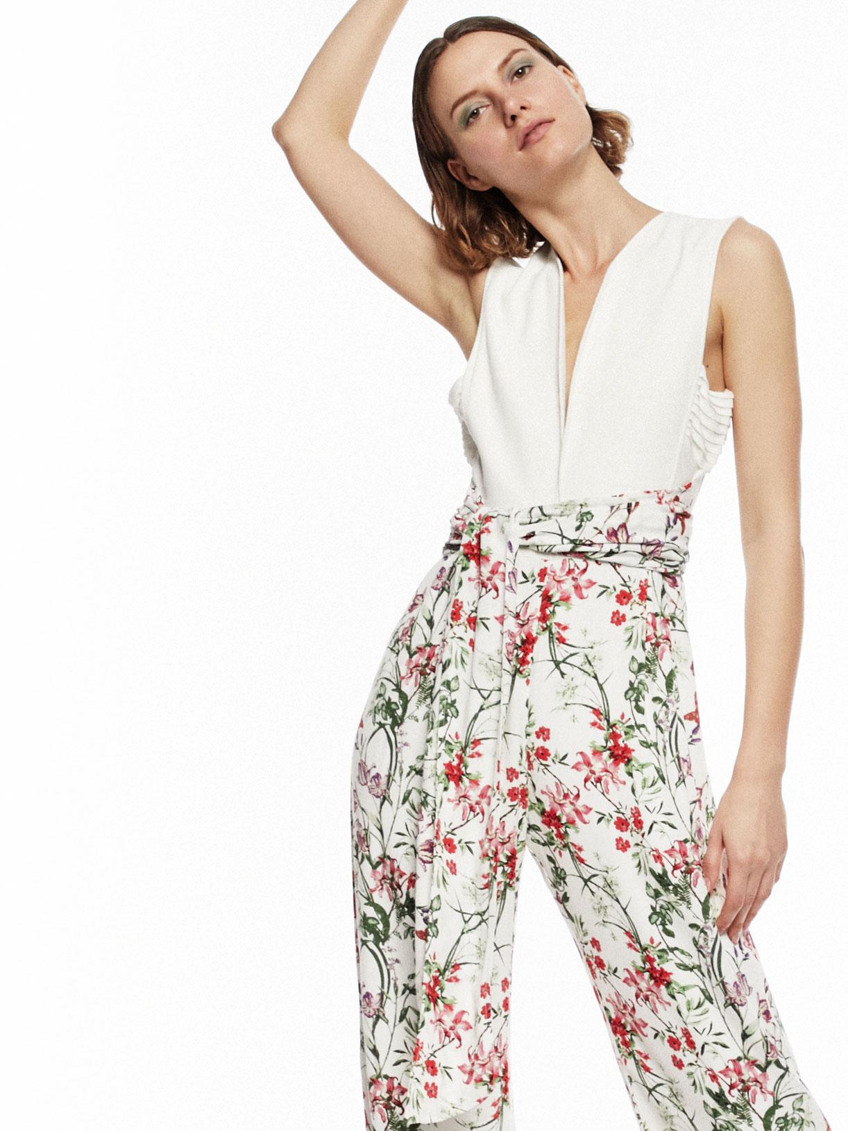 combinaison tenue d'invitée mariage motif fleuri écoresponsable - Creatrice de mode éthique et bio a Paris - Myphilosophy