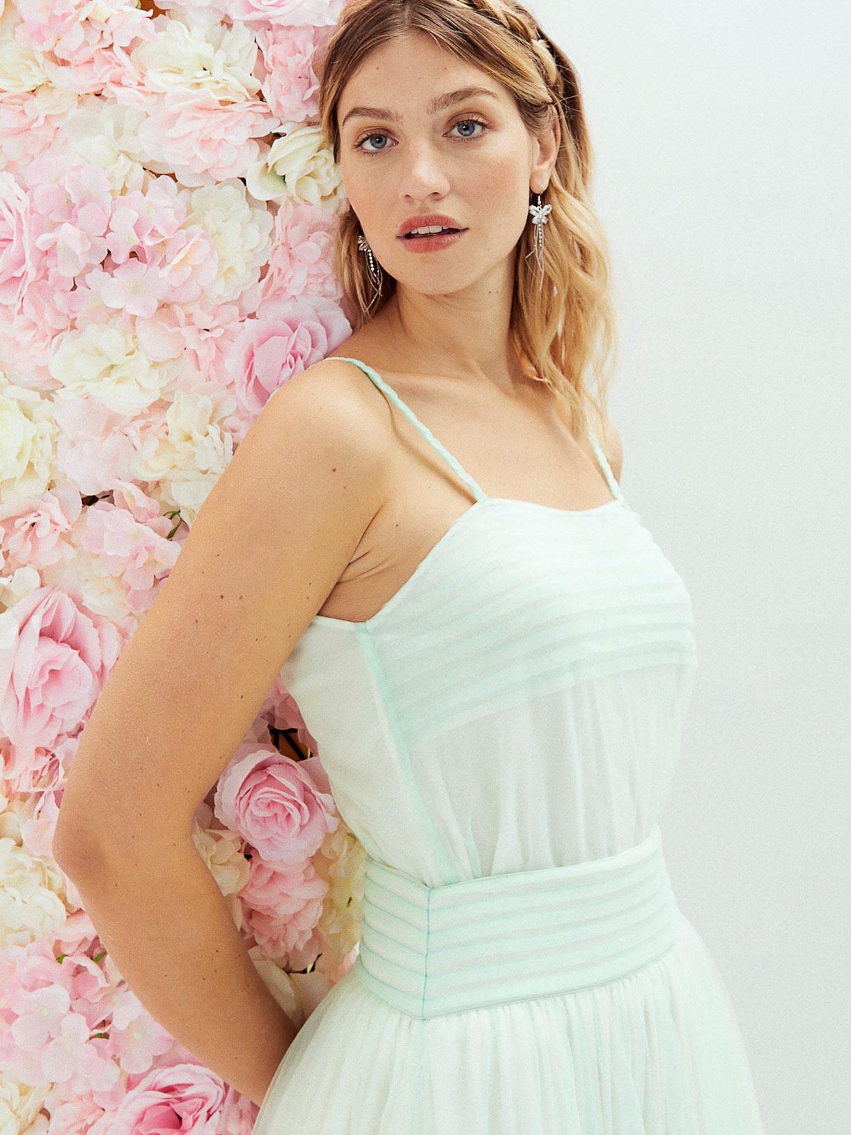 Blouse de mariee boheme coloree a bretelles fines ecoresponsable - Creatrice de robe de mariée éthique et écoresponsable a Paris - Myphilosophy