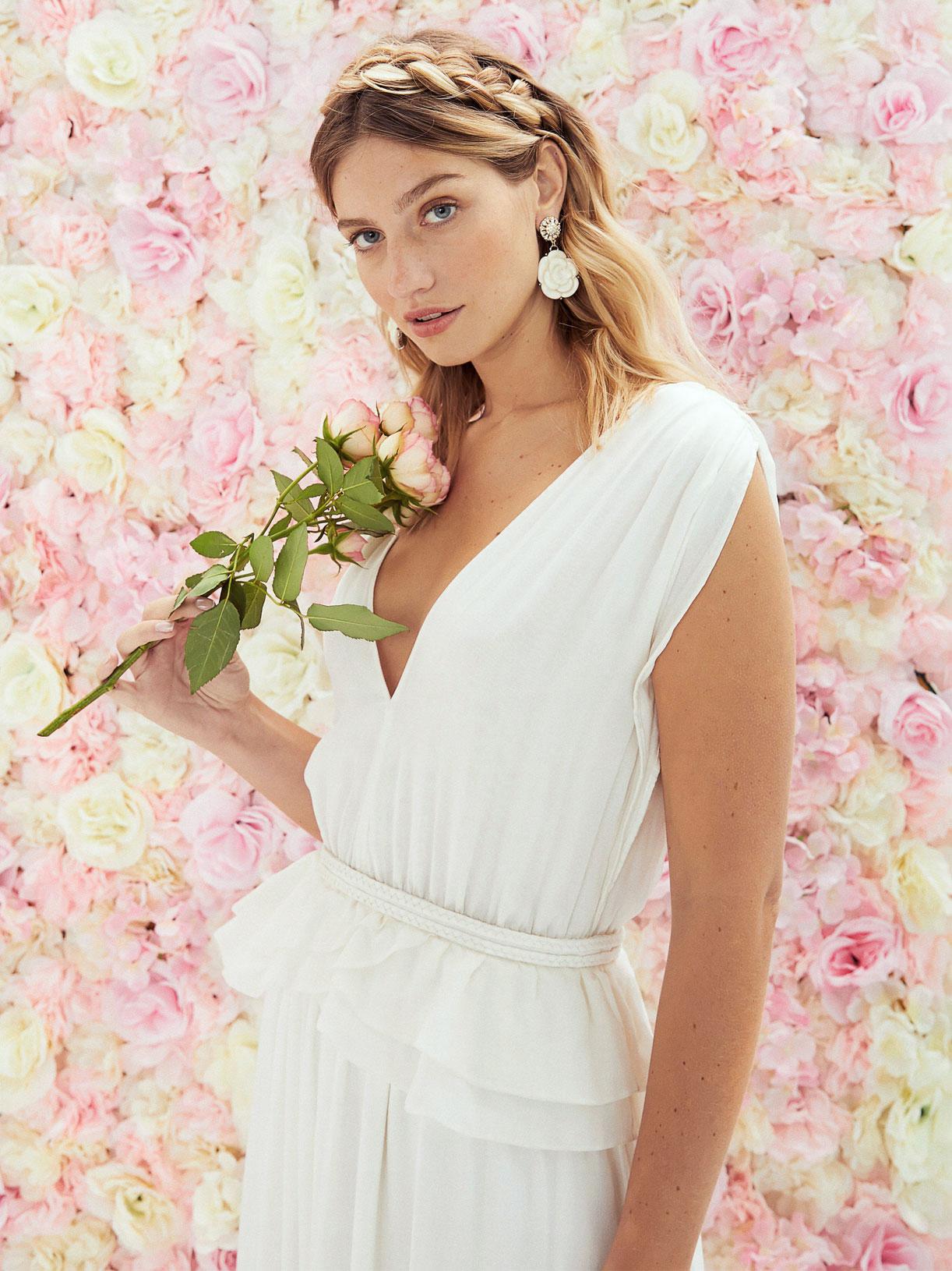 Robe de mariee deesse grecque peplum ecoresponsable - Creatrice de robe de mariée éthique et écoresponsable a Paris - Myphilosophy