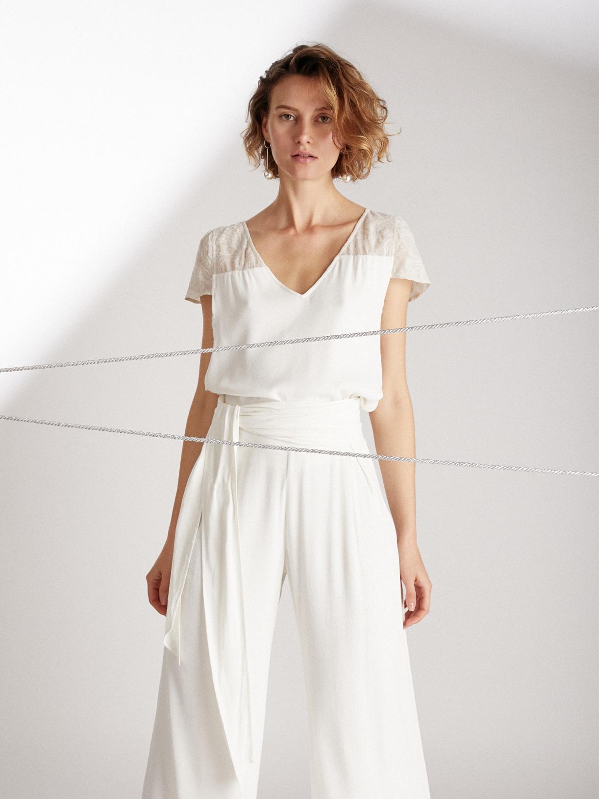 Blouse de mariée dentelle écoresponsable - Creatrice de robe de mariée éthique et bio a Paris - Myphilosophy
