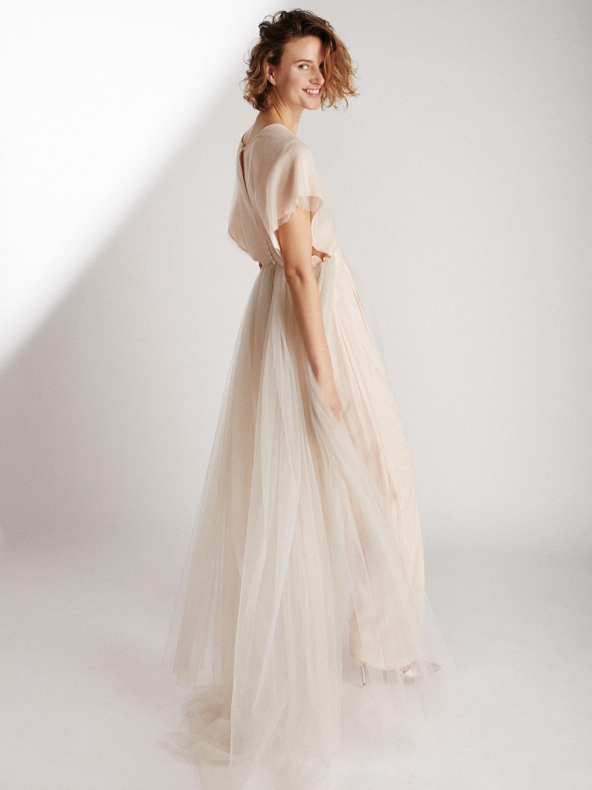 combinaison de mariée a traine écoresponsable - Creatrice de robe de mariée éthique et bio a Paris - Myphilosophy