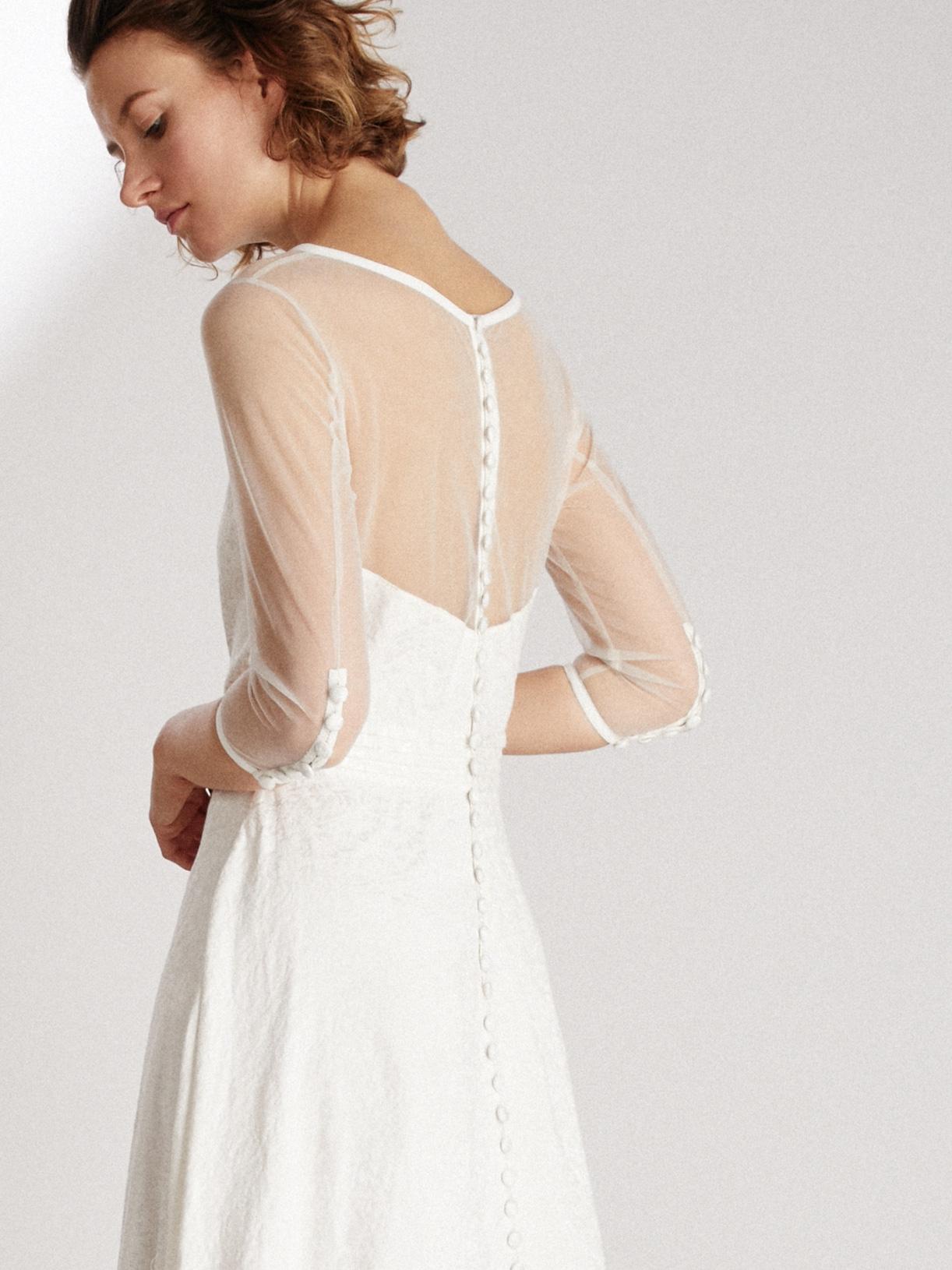Robe de mariée hiver écoresponsable - Creatrice de robe de mariée éthique et bio a Paris - Myphilosophy