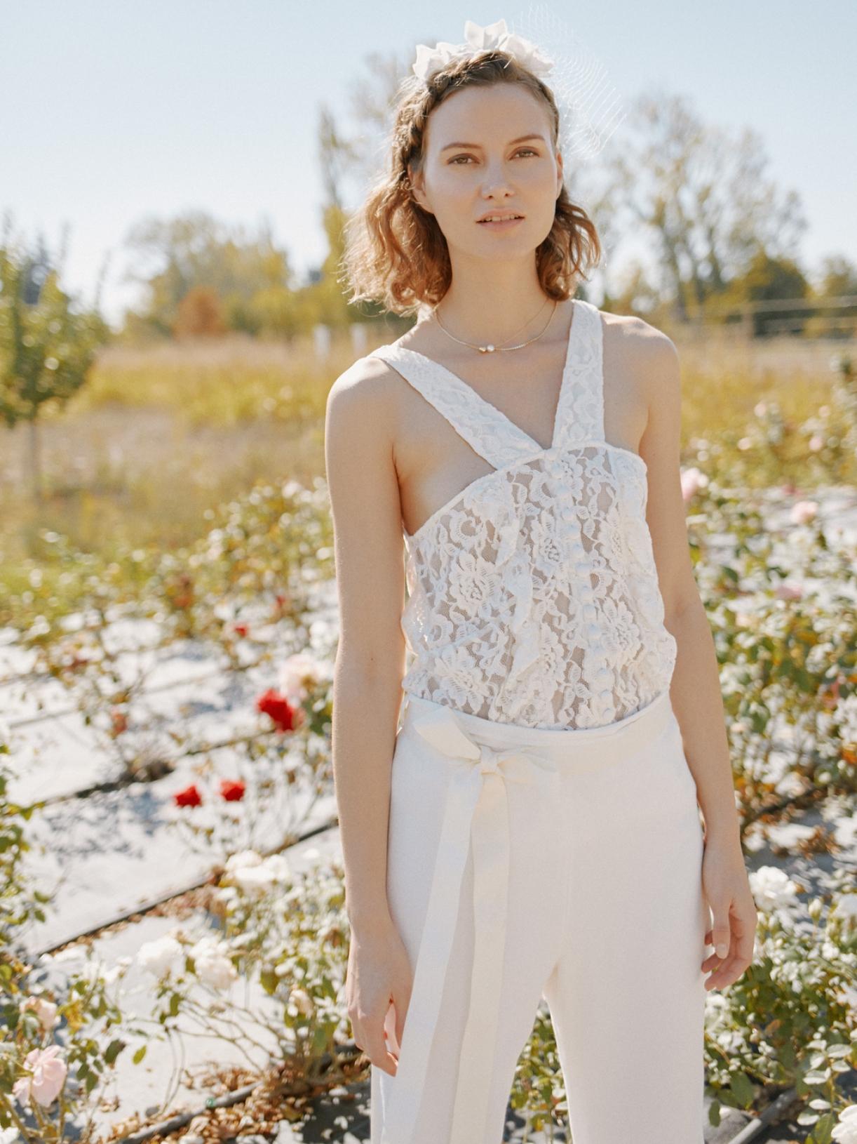 Lyne - Pantalon de mariée
