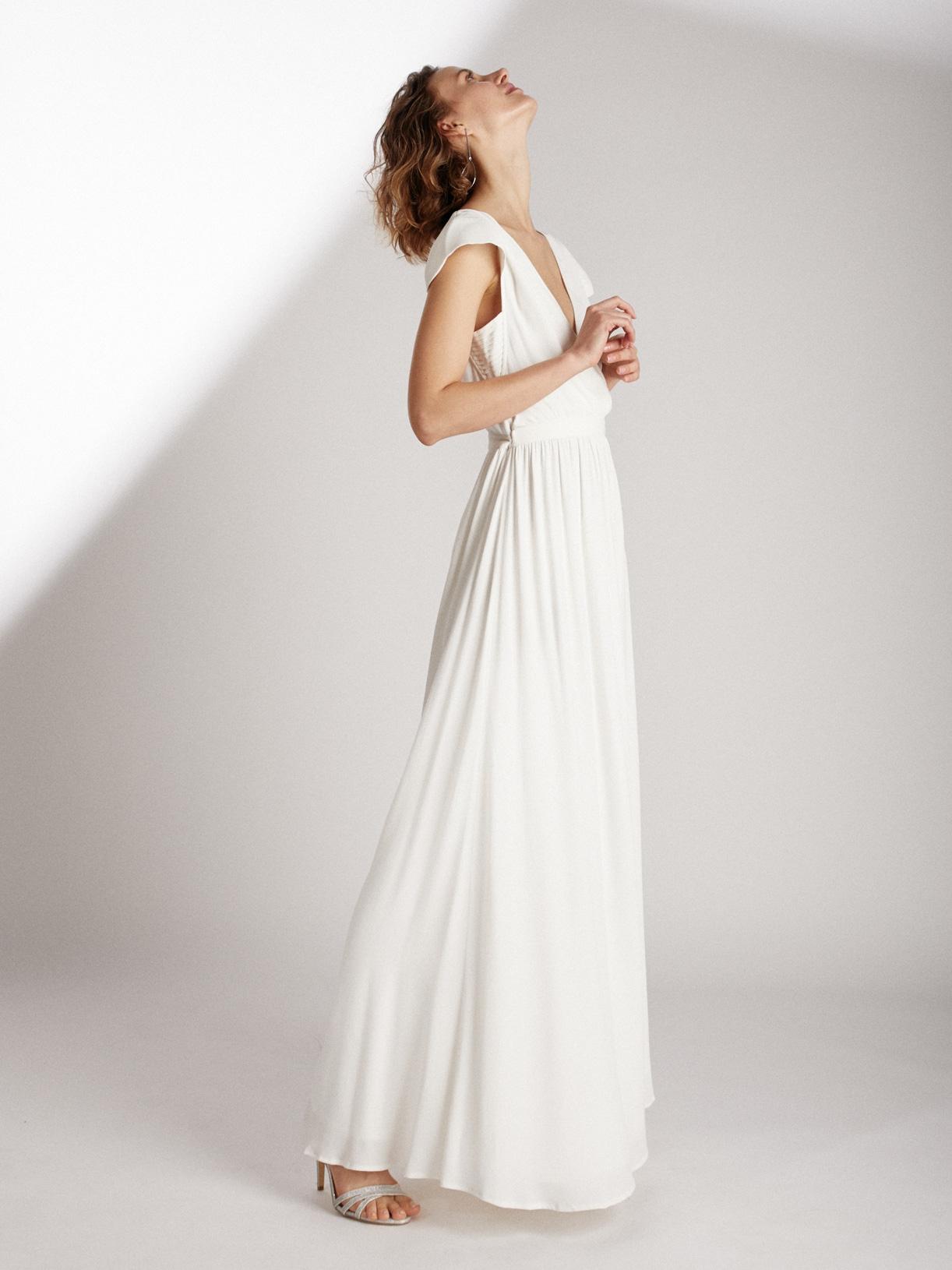 Robe de mariée dos-nu écoresponsable - Creatrice de robe de mariée éthique et bio a Paris - Myphilosophy