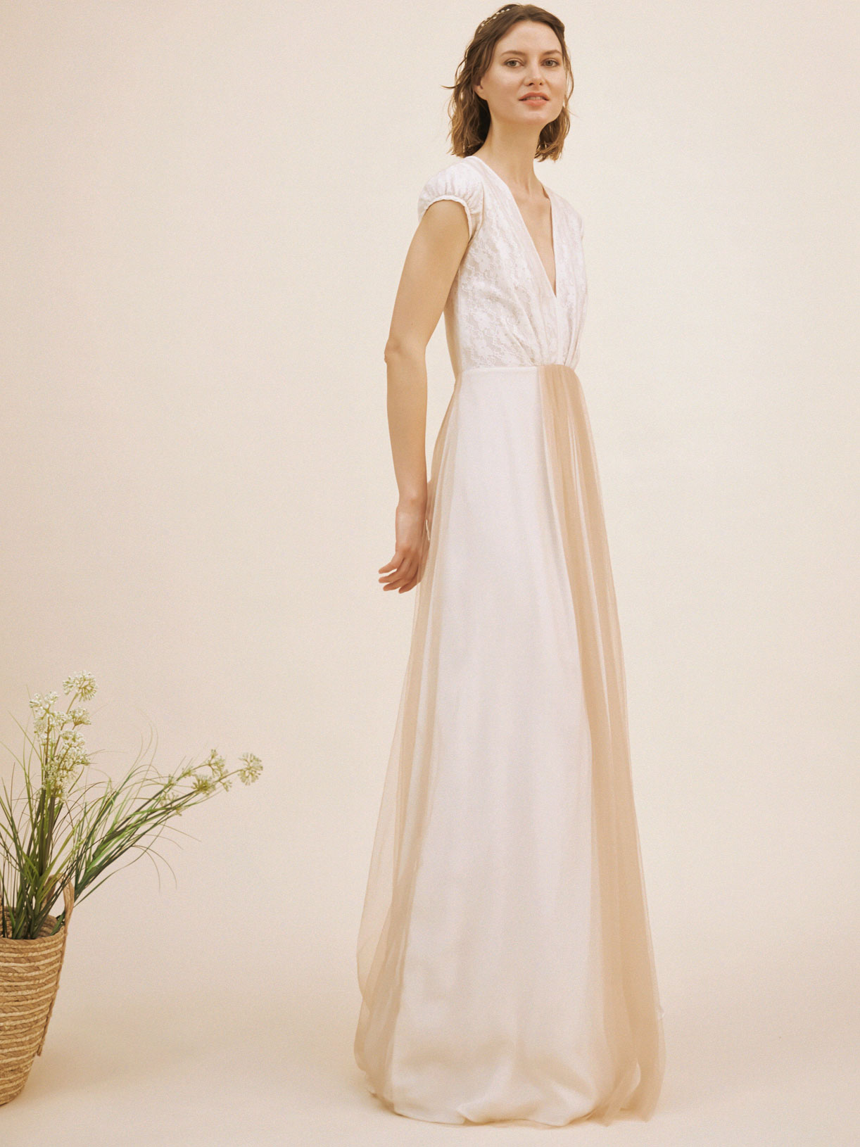 Robe de mariée bohème et romantique écoresponsable - Creatrice de robe de mariée éthique et bio a Paris - Myphilosophy