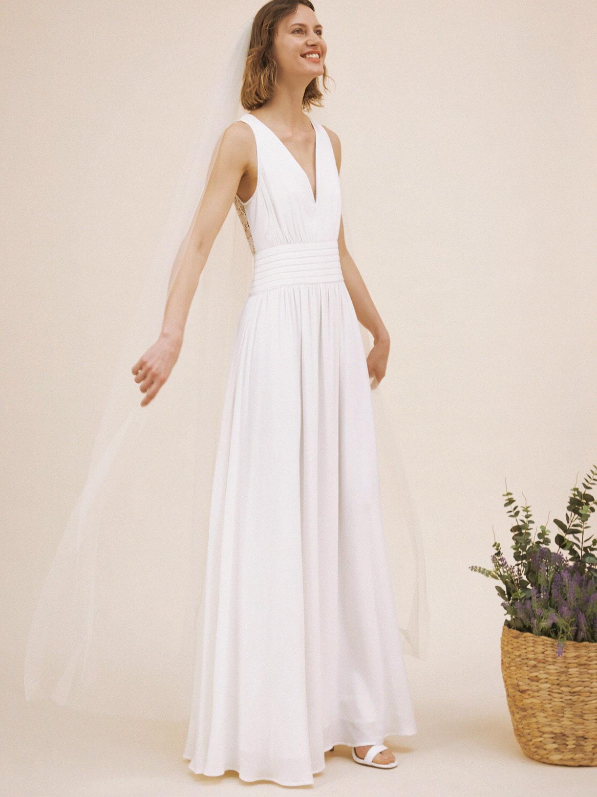 Robe de mariée dos nu en dentelle écoresponsable - Creatrice de robe de mariée éthique et bio a Paris - Myphilosophy