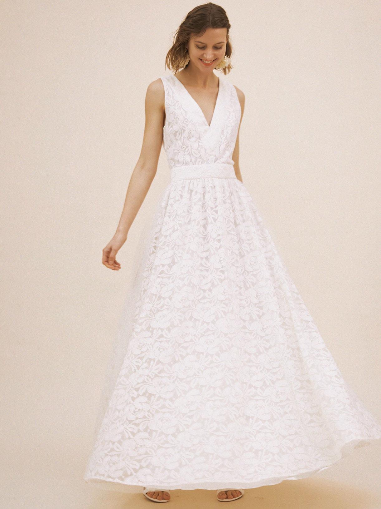 Robe de mariée pin up retro en dentelle écoresponsable - Creatrice de robe de mariée éthique et bio a Paris - Myphilosophy