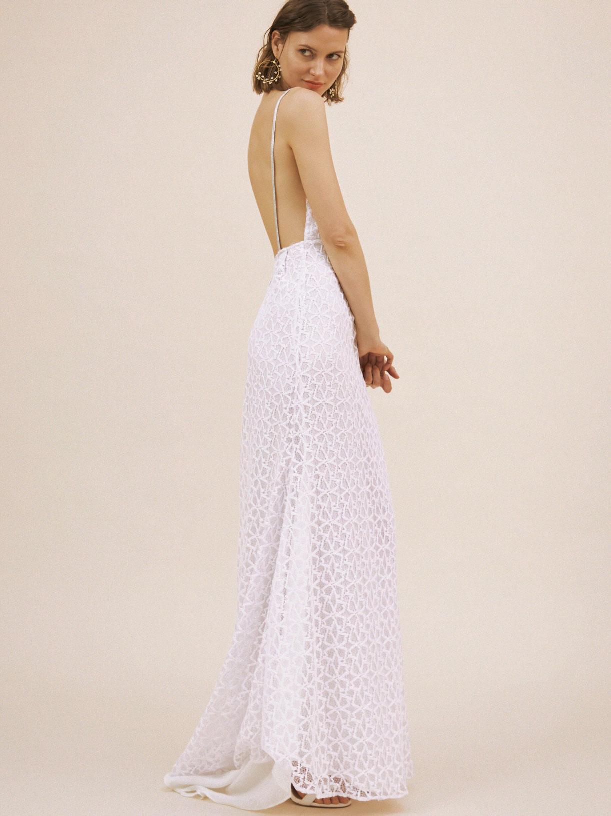 Robe de mariée dos nu sirène en dentelle écoresponsable - Creatrice de robe de mariée éthique et bio a Paris - Myphilosophy