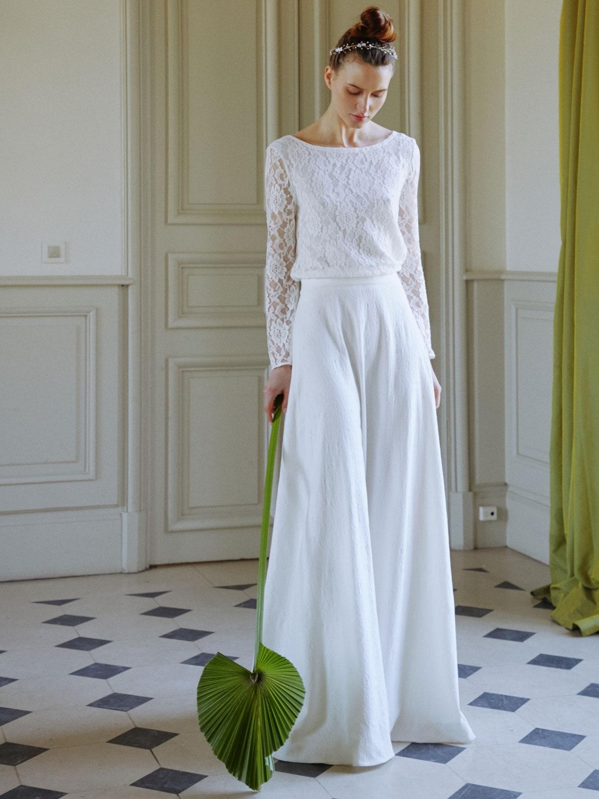 FELICITY - Jupe de mariée corolle longue et romantique - Créatrice de robes de mariée sur-mesure éthique et bio sur Paris - Myphilosophy