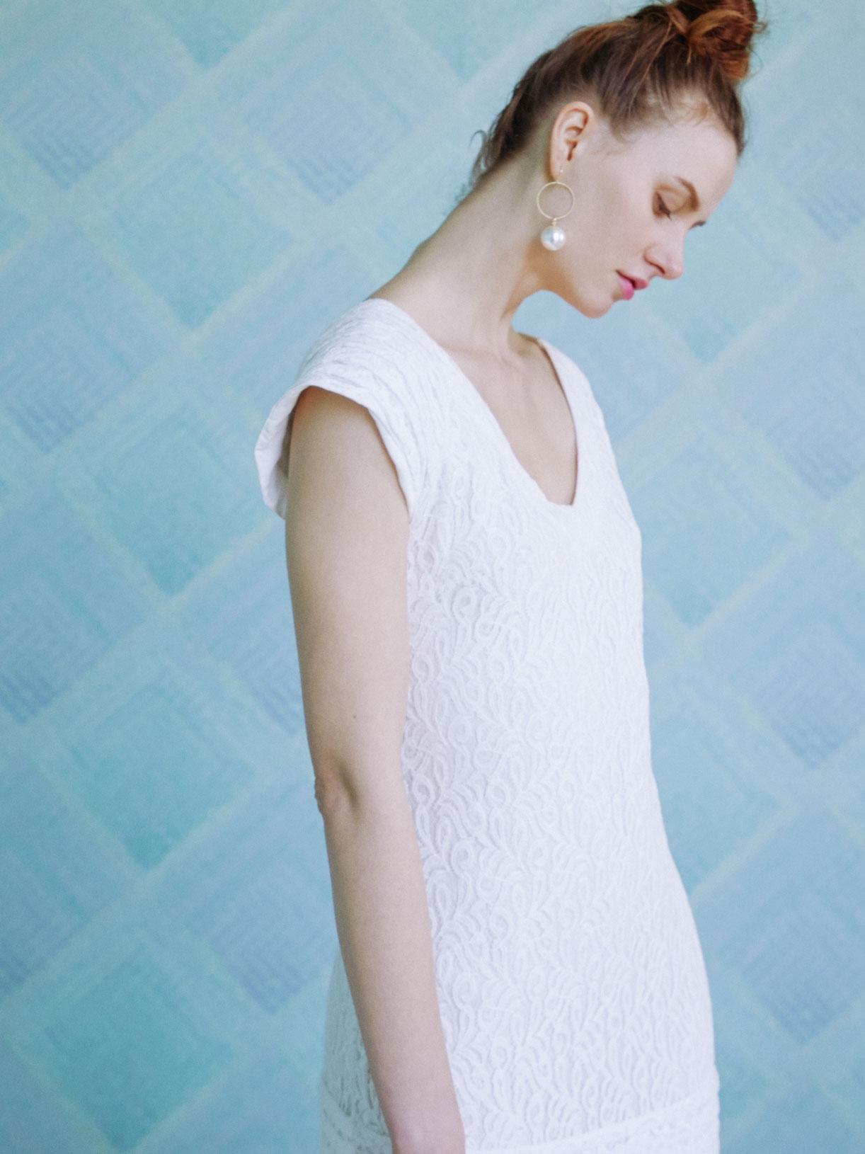 ALEXA - Robe pour mariage civile courte et sexy en dentelle - Créatrice de robes de mariée sur-mesure éthique et bio sur Paris - Myphilosophy