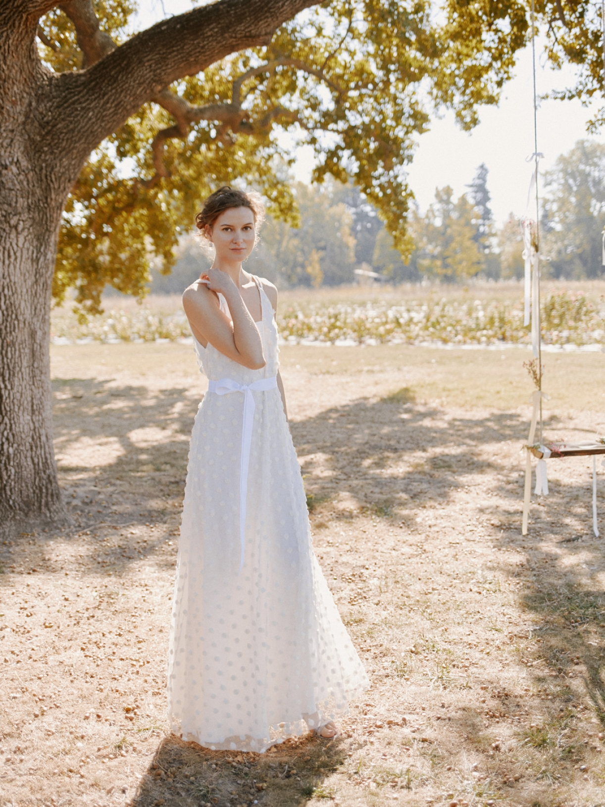 Anna - Robe de mariée longue créateur éthique a Paris