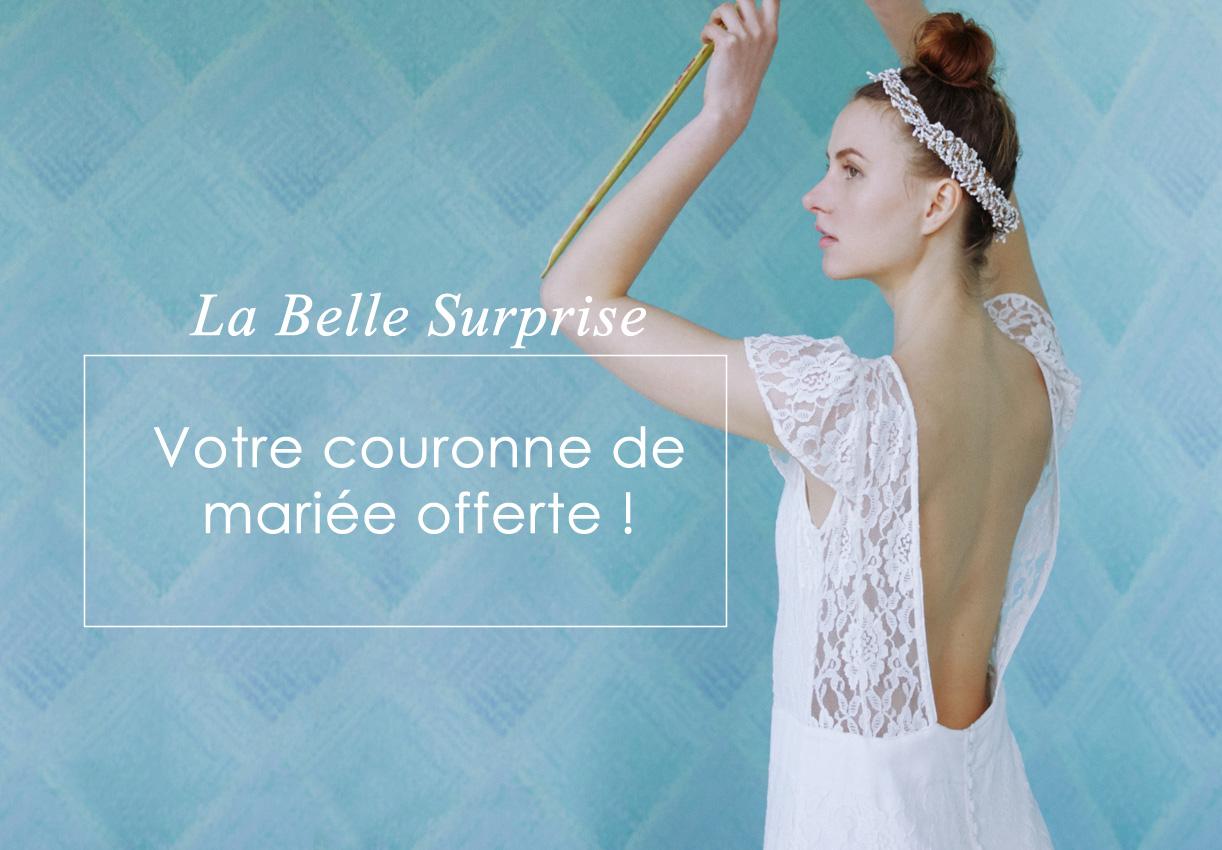 La belle surprise : Votre couronne de mariée offerte !