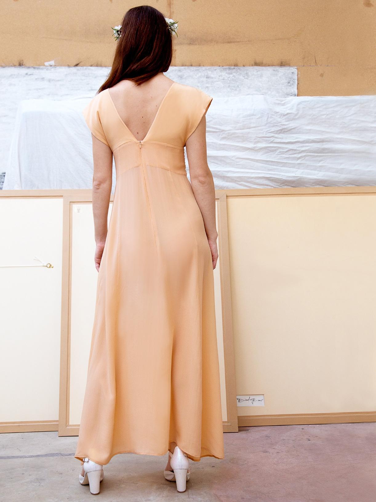 Gabrielle - Robe de mariée longue et boheme pour mariage civil ethique et bio - Myphilosophy