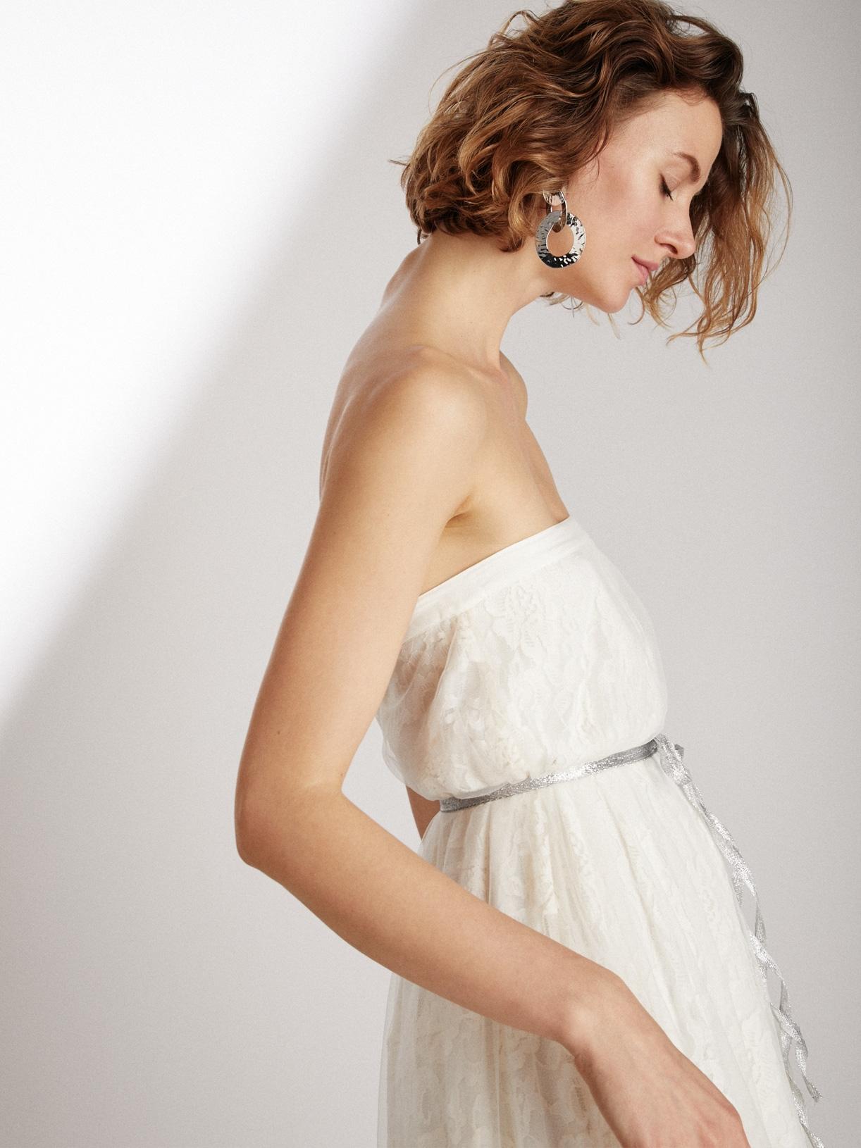 Robe de mariée bustier en dentelle éthique et sur-mesure Trinity - Myphilosophy