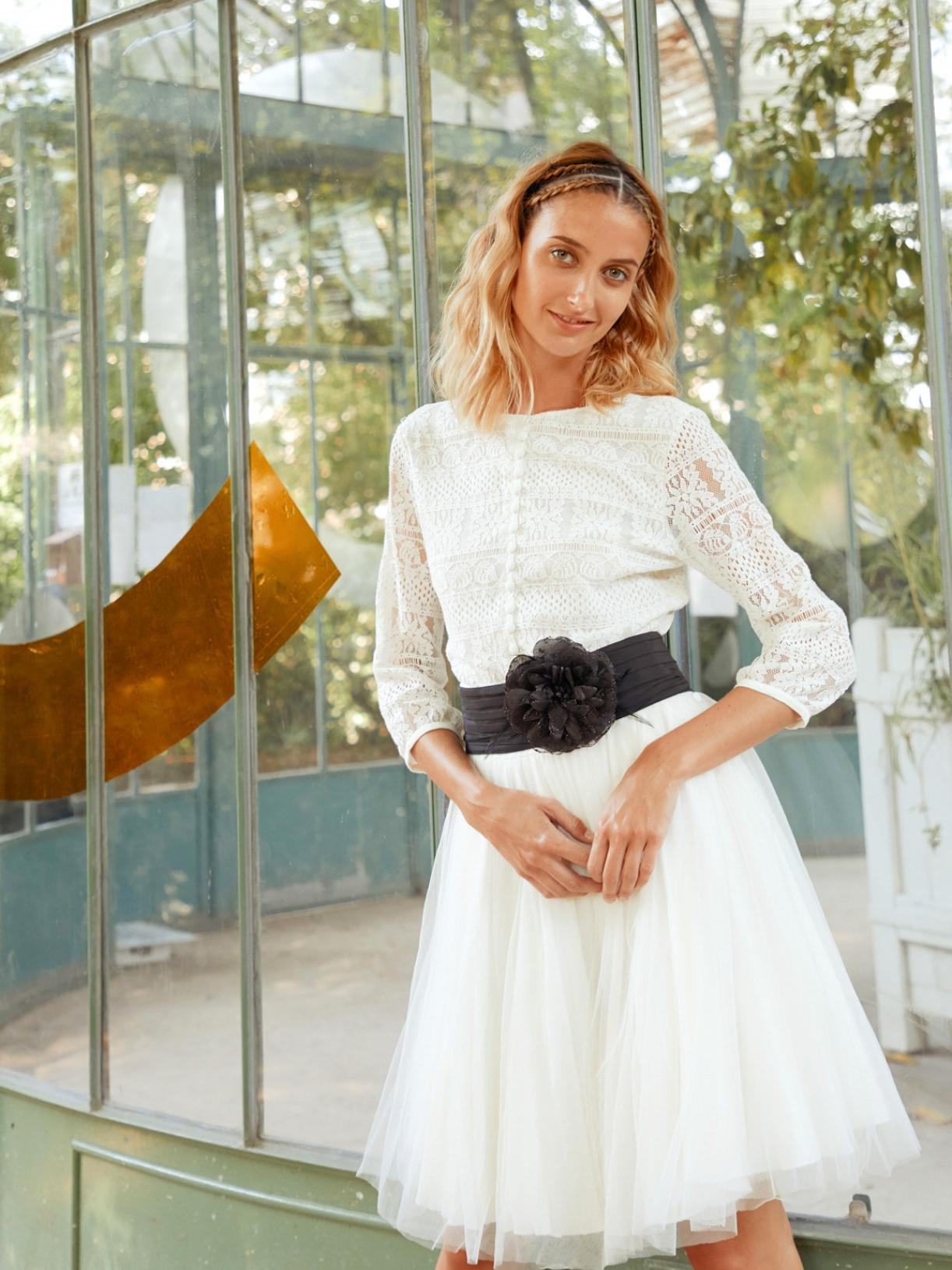 ROSE - Robe de mariée courte jupon de ballerine en tulle créateur et sur-mesure pas cher a Paris - Myphilosophy