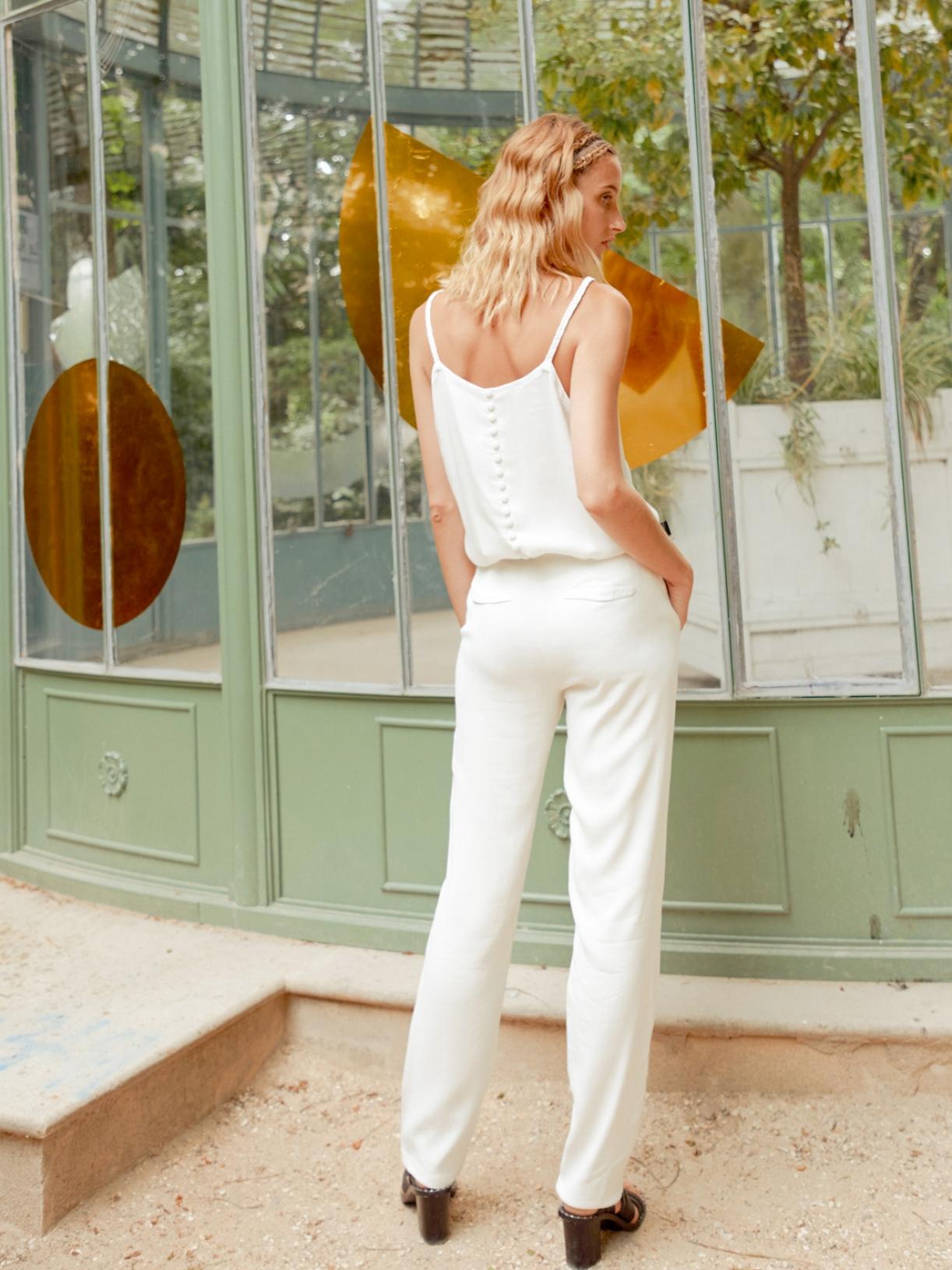Lulomoon - Tailleur de mariée femme blanc  - Robe de mariée créateur et sur-mesure pas cher a Paris - Myphilosophy