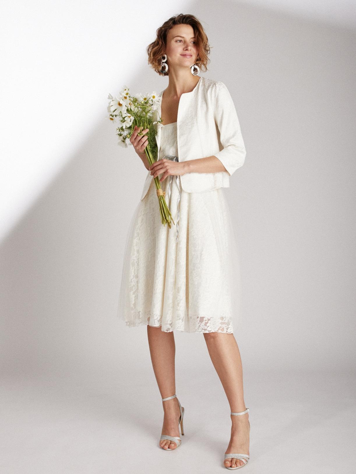 Veste de mariée courte éthique et sur-mesure en jacquard Abel - Myphilosophy