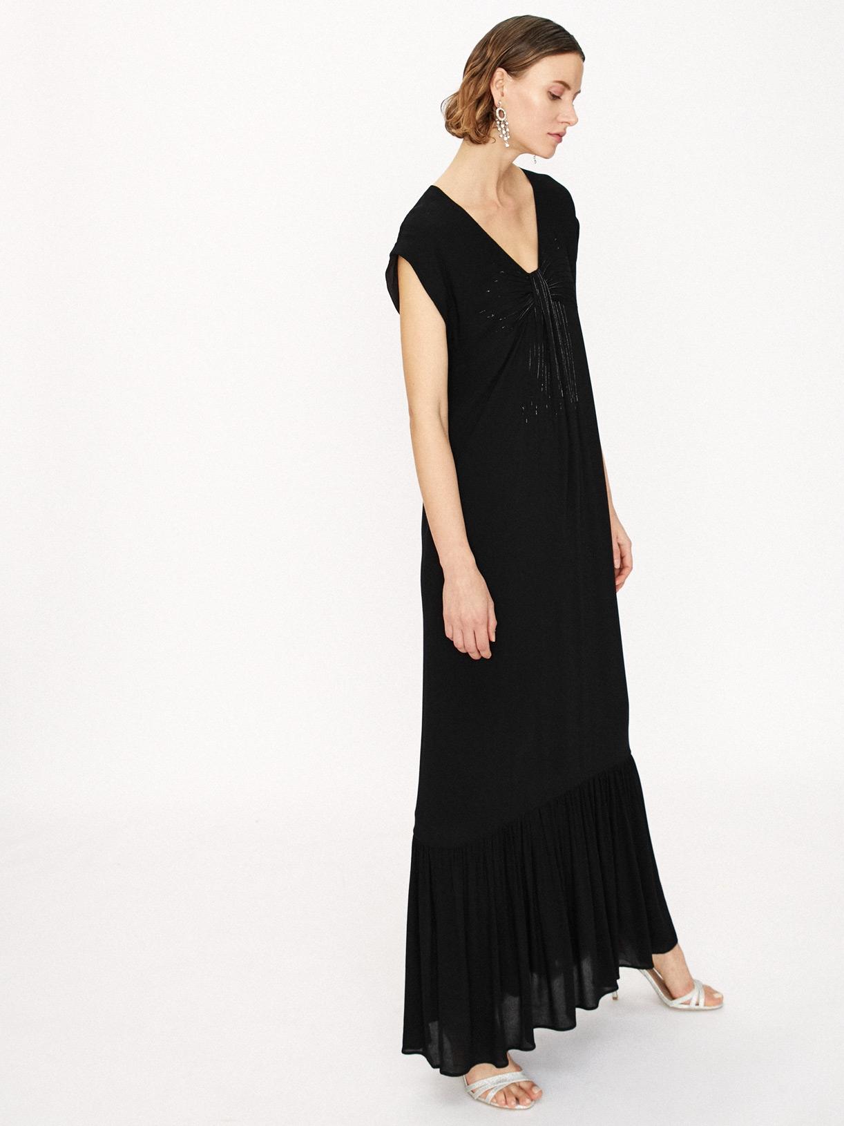 Robe de soirée noire longue éthique et sur-mesure Lola - Myphilosophy